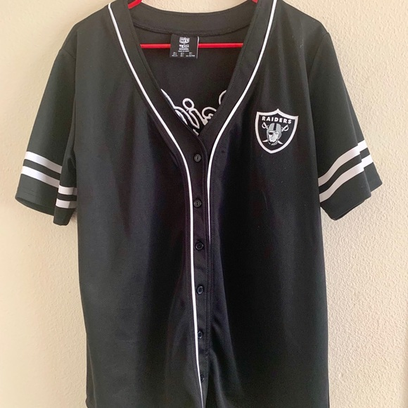 size 40 3df00 3d66a Forever 21/NFL Oakland Raiders Baseball Jersey